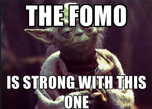 Cryptocurrency meme FOMO