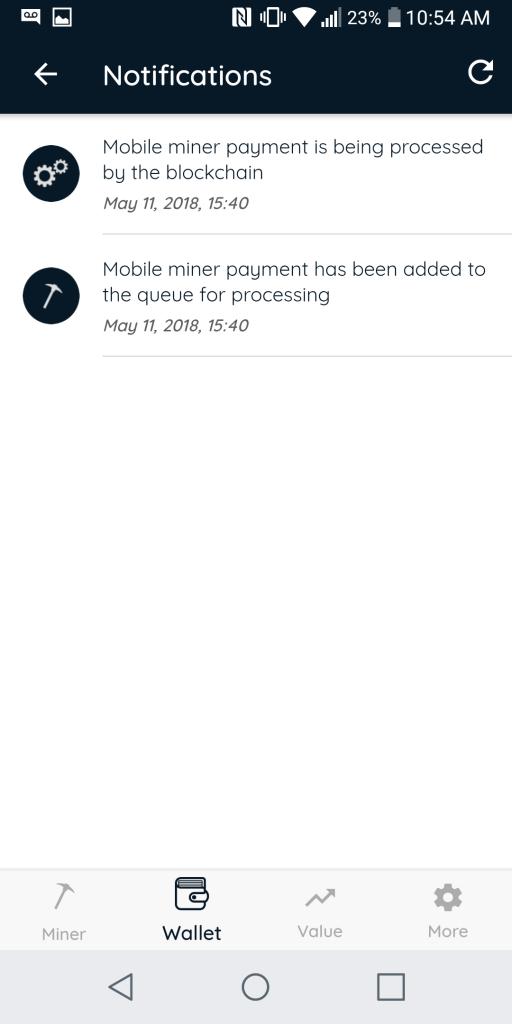 ETN mobile crypto miner