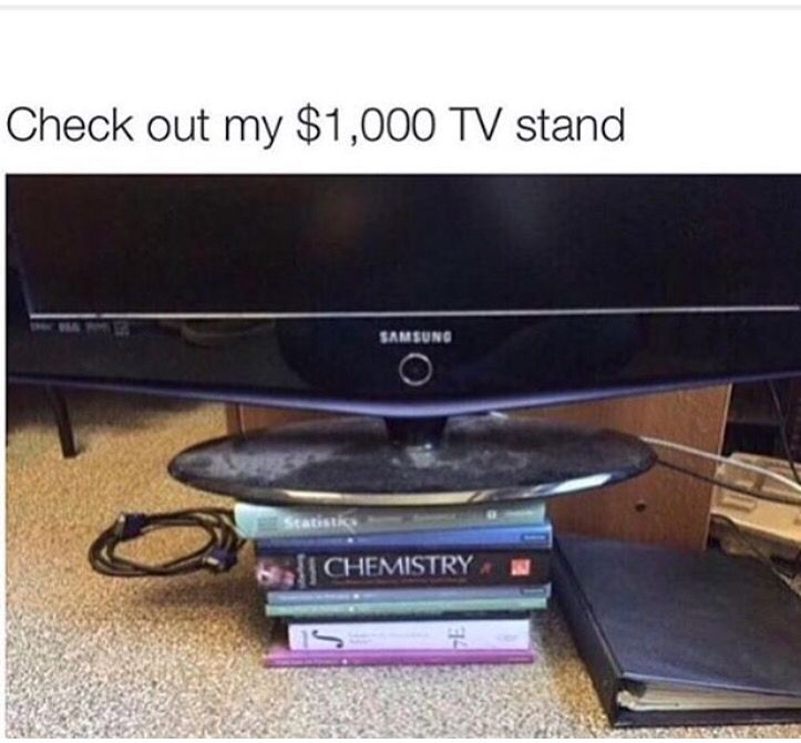 college-textbook-tv-stand
