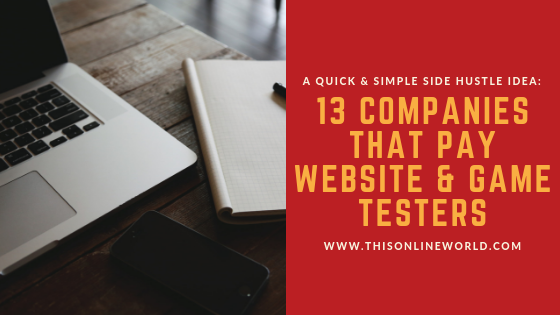 Make money through website testing