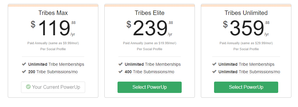 Tribe powerups Tailwind