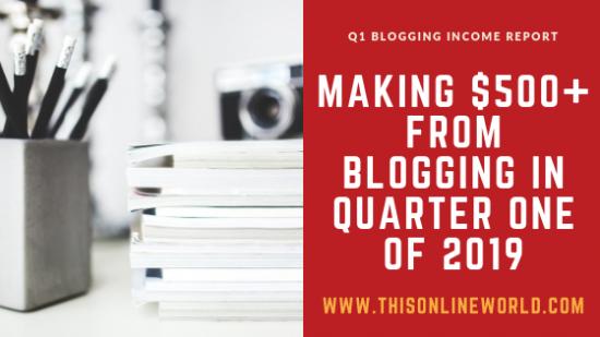 Blogging income report 2019
