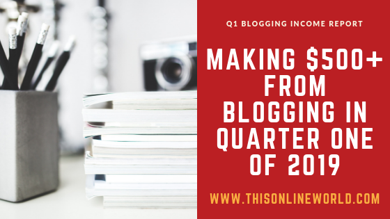 Blogging income report 2019