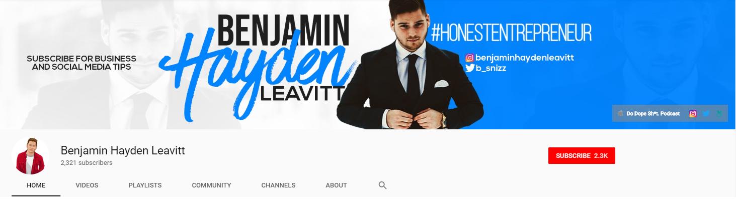 Benjamin Leavitt YouTube