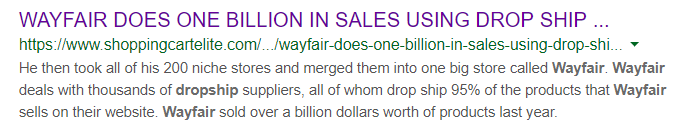 Wayfair-dropshipping