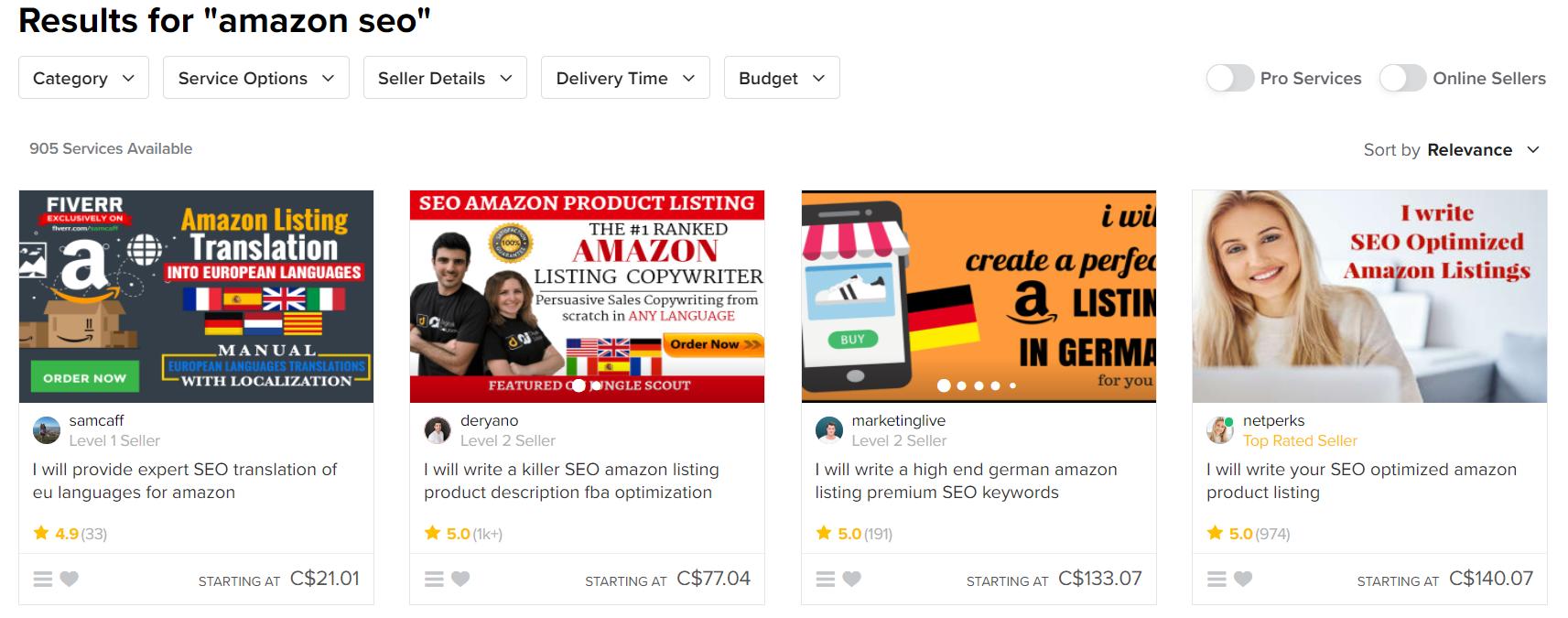 Fiverr-Amazon-services