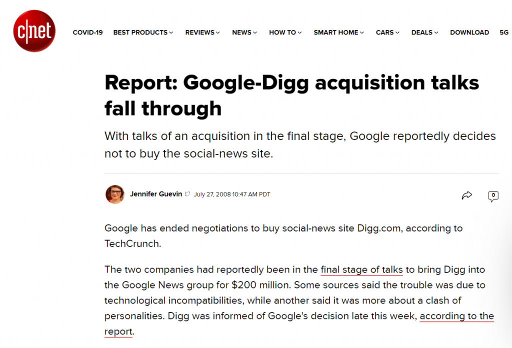 Digg-acquisition