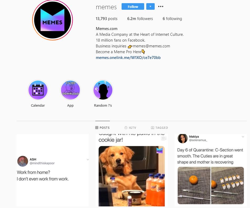Instagram-meme-account