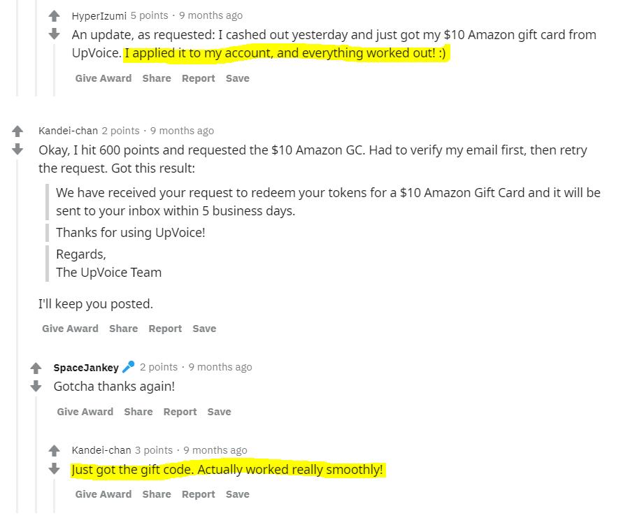 Upvoice-reddit-reviews